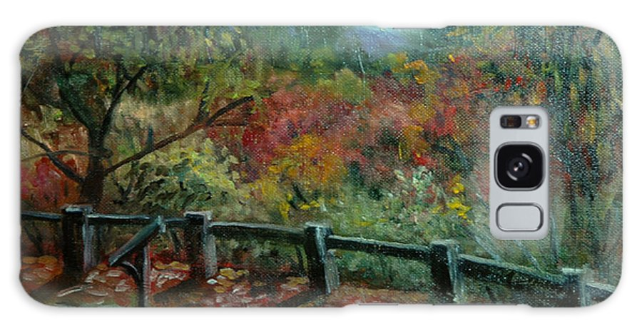 Arboretum Galaxy S8 Case featuring the painting Bussey Hill View by Aline Lotter
