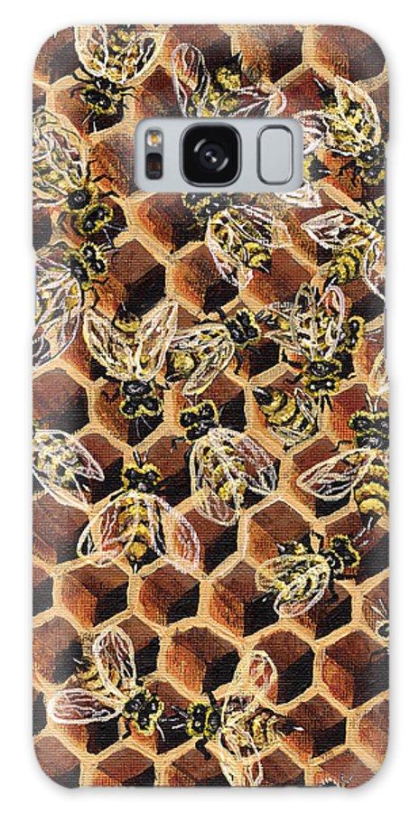 Bee Galaxy S8 Case featuring the painting Busy Bee 2 by Darice Machel McGuire
