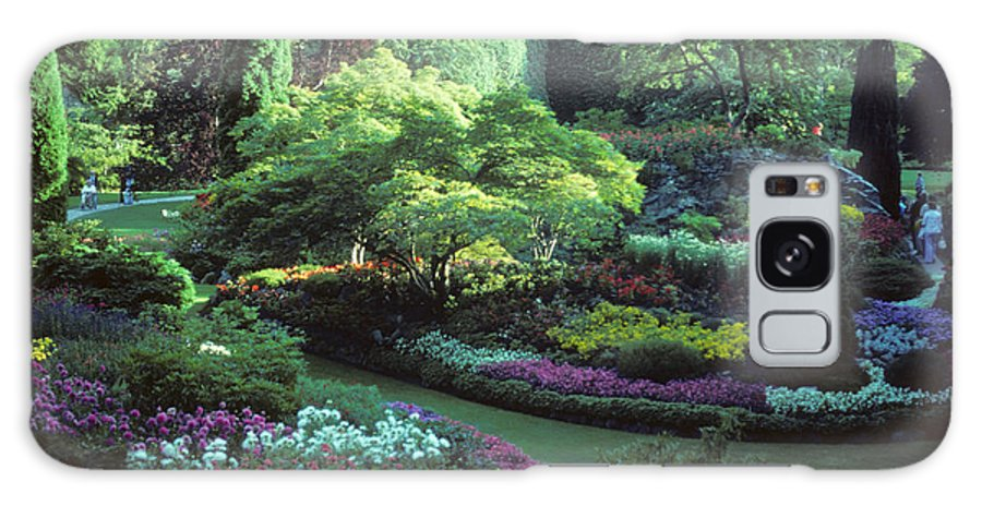 Butchard Gardens Galaxy S8 Case featuring the photograph Butchard Gardens Vancouver Island by Bob Christopher