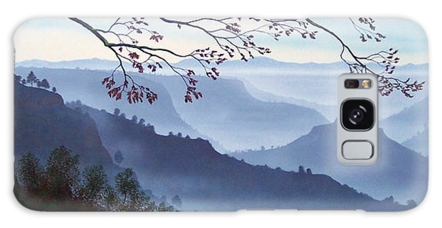 Mural Galaxy S8 Case featuring the painting Butte Creek Canyon Mural by Frank Wilson