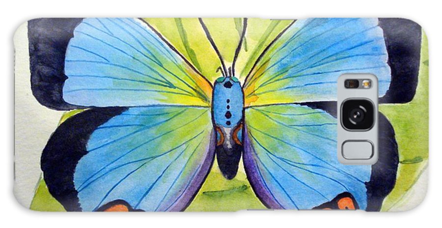 Butterfly Galaxy S8 Case featuring the painting Butterfly 1 by Bonnie Schallermeir