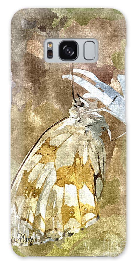 Butterfly Galaxy S8 Case featuring the mixed media Butterfly Art Print 3 by Dori Marie Art By Design