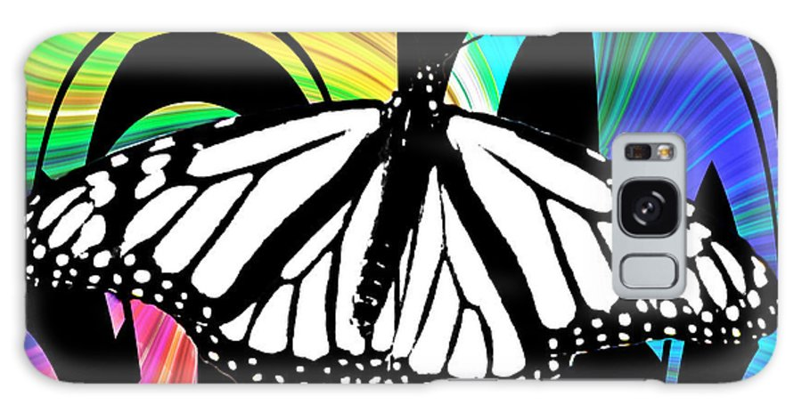 Butterfly Galaxy S8 Case featuring the photograph Butterfly Abstract Wall Art Decor by Carol F Austin