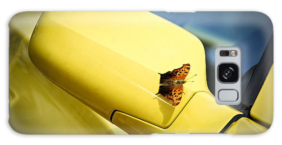 Car Galaxy S8 Case featuring the photograph Butterfly On Sports Car Mirror by Elena Elisseeva