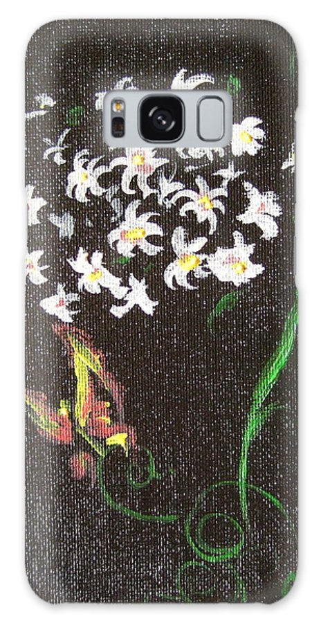 Galaxy S8 Case featuring the painting Butterfly Sprig by Katerina Naumenko