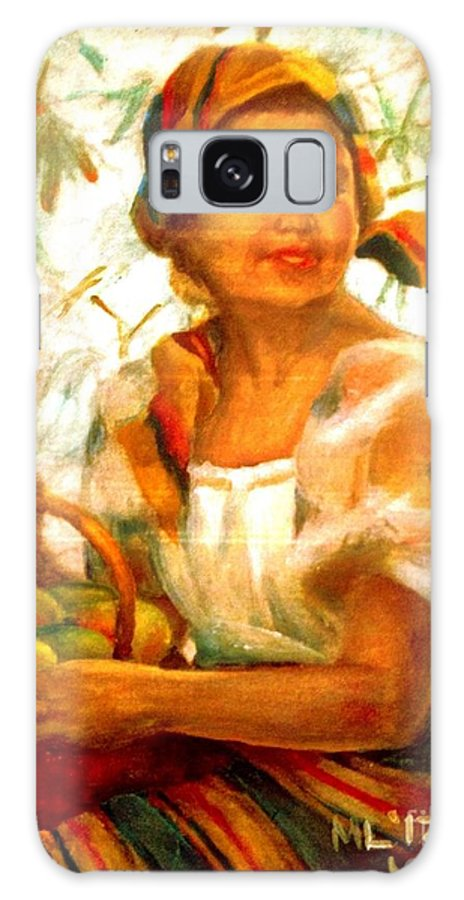 Filipina Galaxy S8 Case featuring the painting by Amorsolo by Maria Leah Comillas