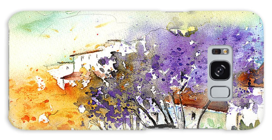 Watercolour Galaxy S8 Case featuring the painting By Teruel Spain 01 by Miki De Goodaboom