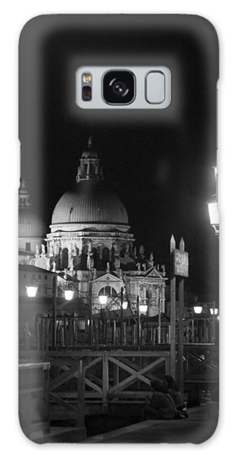 Black And White Galaxy S8 Case featuring the photograph By The Dome - Venice by Lisa Parrish
