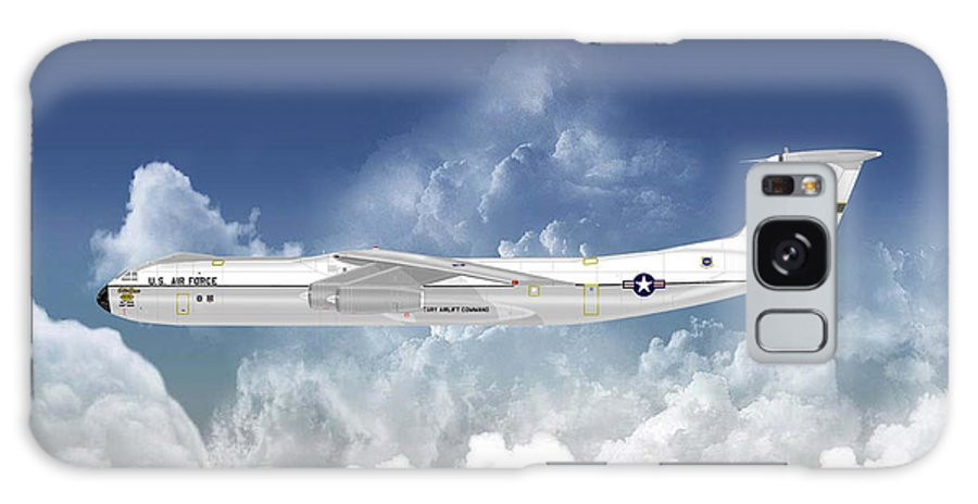 Lockheed Galaxy S8 Case featuring the digital art C-141b Starlifter by Arthur Eggers