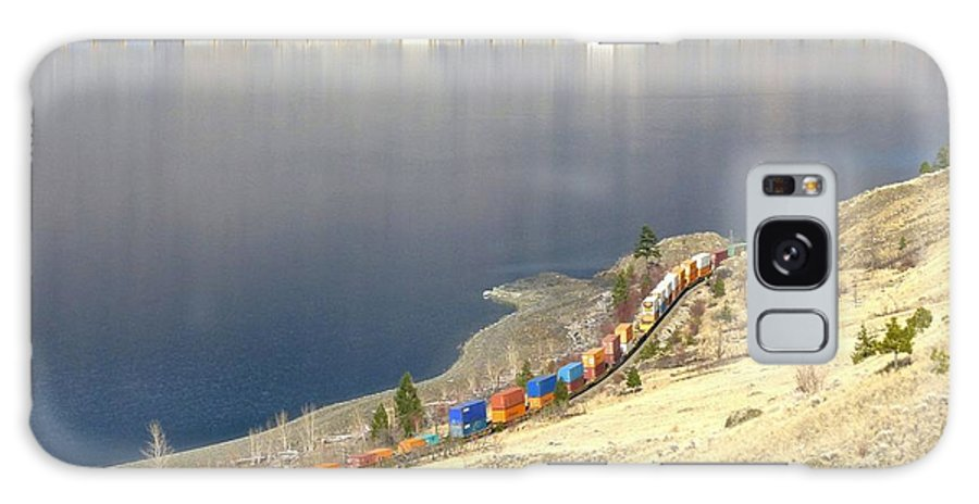 Cpr And Cnr Freight Trains Galaxy S8 Case featuring the photograph C P R And C N R Freight Trains by Will Borden