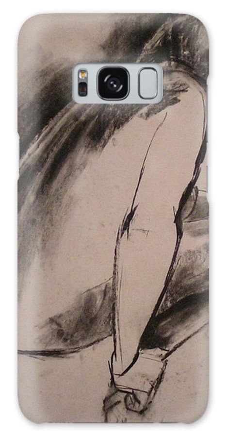 Relaxing Galaxy S8 Case featuring the painting C04. Resting by Les Melton