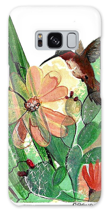 Humming Bird Galaxy S8 Case featuring the painting C11 by Brenda L Baker