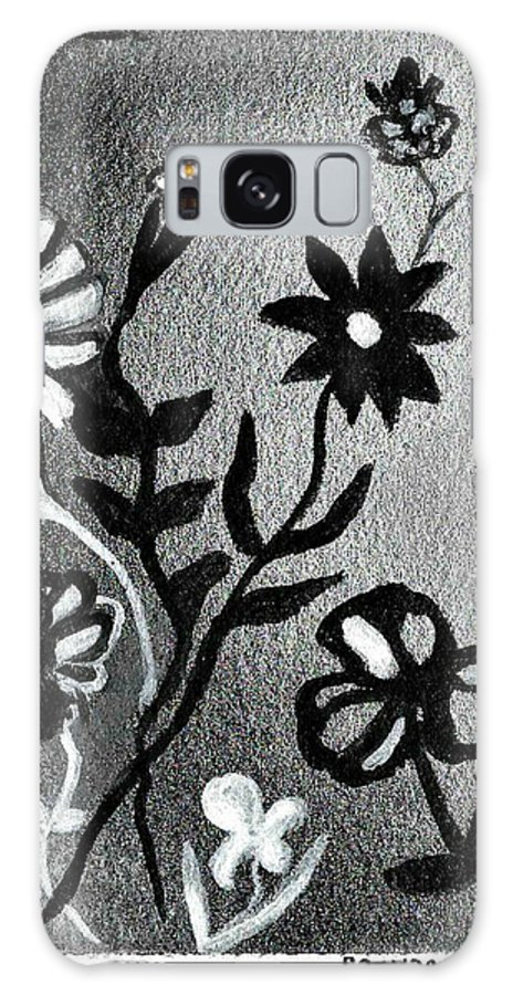 Flowers Galaxy S8 Case featuring the painting C17 by Brenda L Baker