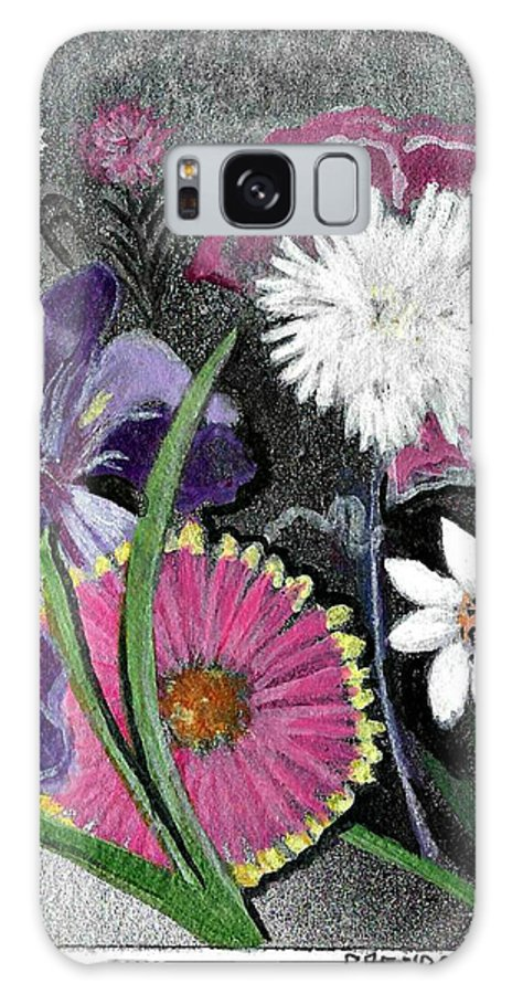 Flowers Galaxy S8 Case featuring the painting C18 by Brenda L Baker