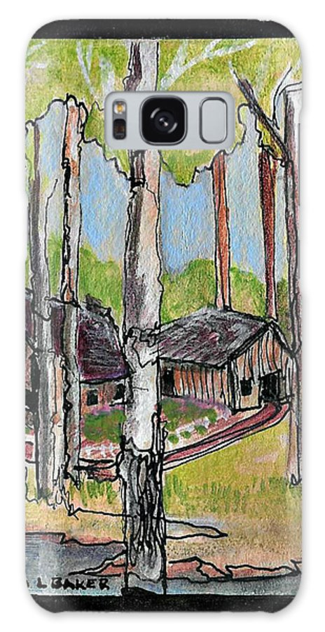 Cabins Galaxy S8 Case featuring the painting C8 by Brenda L Baker