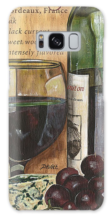 Cabernet Galaxy Case featuring the painting Cabernet Sauvignon by Debbie DeWitt