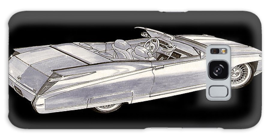 Pen & Ink Wash Galaxy S8 Case featuring the painting 1963 64 Cadillac Roadster Concept by Jack Pumphrey