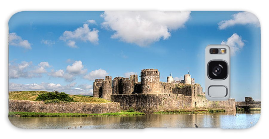 Caerphilly Castle Galaxy S8 Case featuring the photograph Caerphilly Castle 1 by Steve Purnell