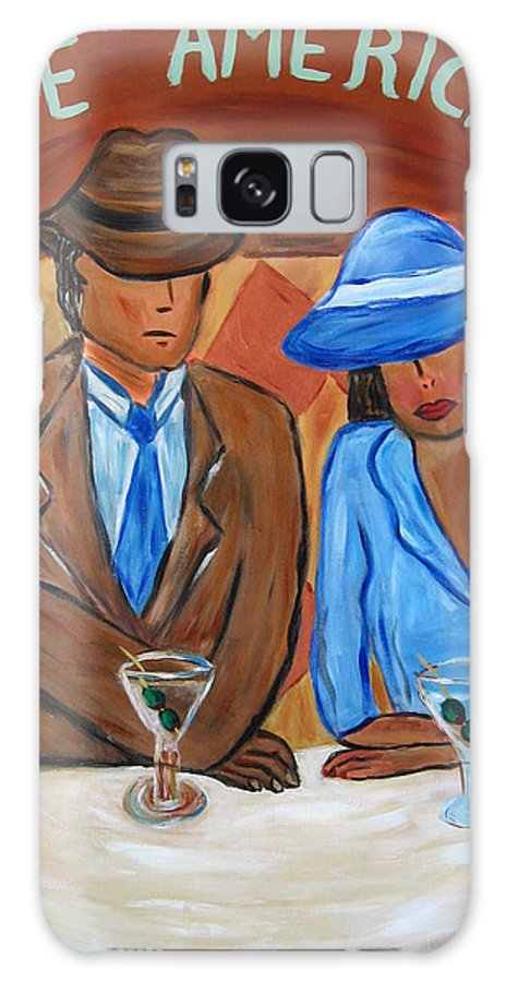 Cafe Galaxy S8 Case featuring the painting Cafe Americana by Victoria Johns