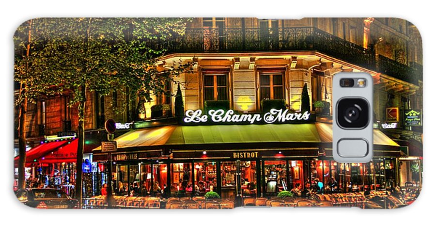 Cafe Galaxy S8 Case featuring the photograph Cafe Le Champ Mars by Steve Ellenburg