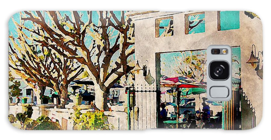 Cafe Galaxy S8 Case featuring the digital art Cafe Diego by J S Watson