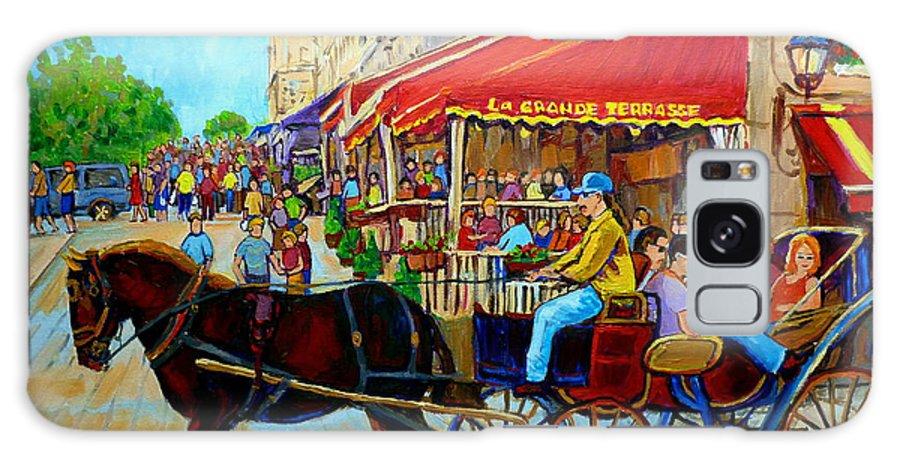 Cafe La Grande Terrasse Galaxy S8 Case featuring the painting Cafe La Grande Terrasse by Carole Spandau