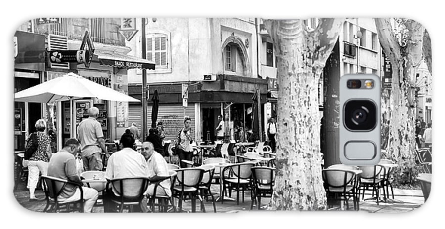 Cafe Time In Marseille Galaxy S8 Case featuring the photograph Cafe Time In Marseille by John Rizzuto
