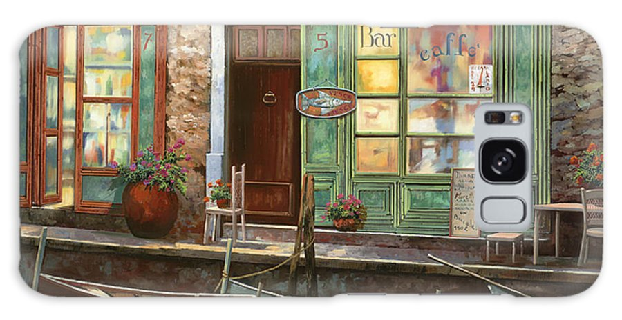 Venice Galaxy S8 Case featuring the painting caffe Carlotta by Guido Borelli