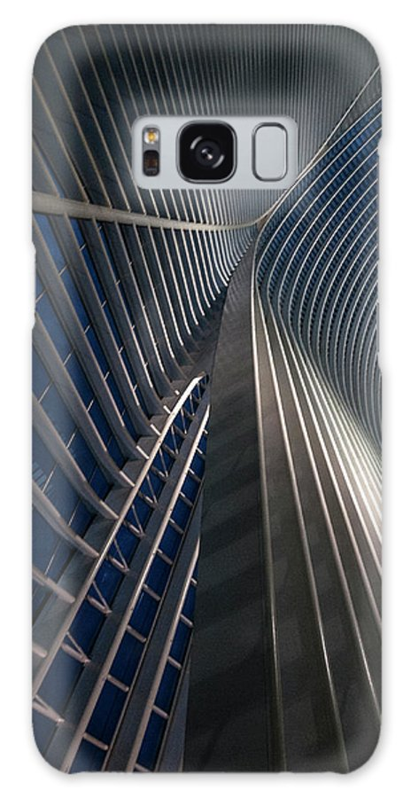 Architecture Galaxy S8 Case featuring the photograph Calatrava Lines At The Blue Hour by Jef Van Den