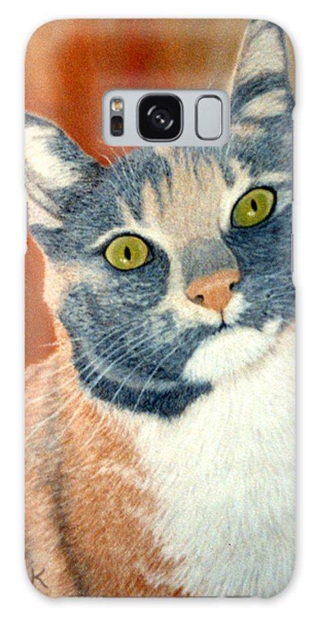 Karen Zuk Rosenblatt Art And Photography Galaxy S8 Case featuring the painting Calico Cat by Karen Zuk Rosenblatt