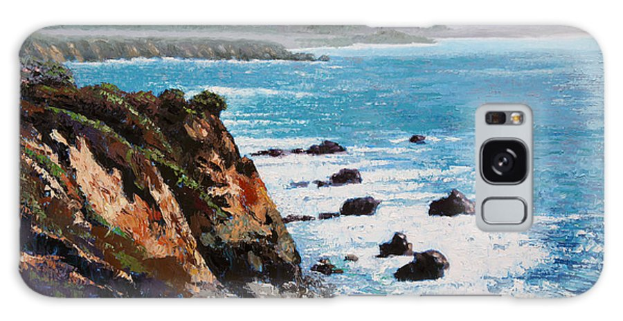 Ocean Galaxy Case featuring the painting California Coastline by John Lautermilch