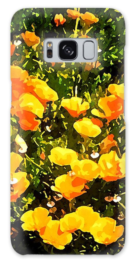 Floral Galaxy S8 Case featuring the photograph California Poppies by Timothy Bulone