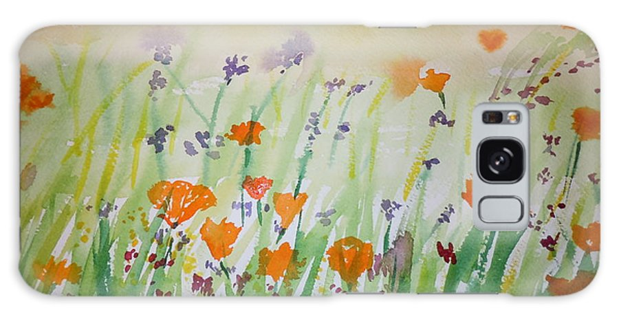 Poppies Galaxy S8 Case featuring the painting California Poppies by Vicky Kasparian