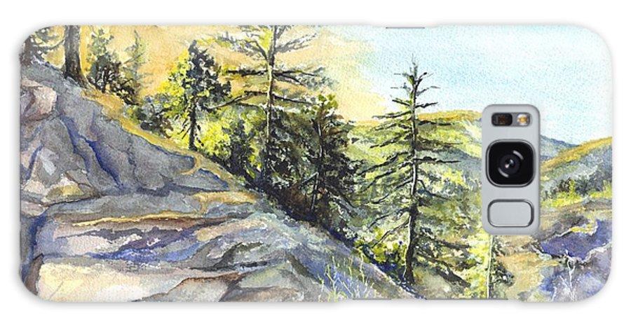 Watercolor Galaxy S8 Case featuring the painting Californias Sierras by Carol Wisniewski