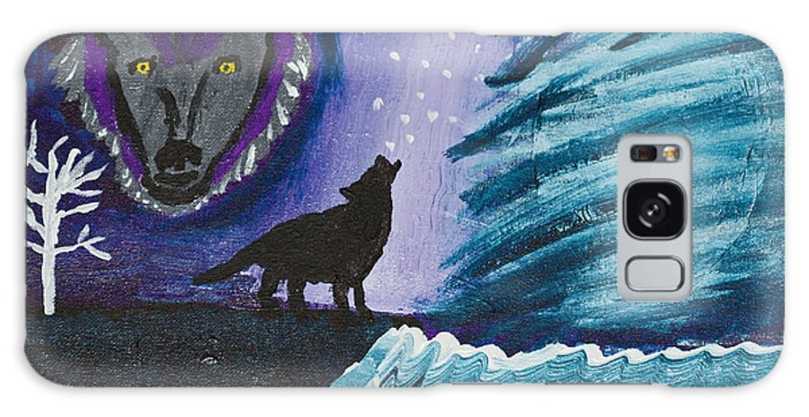 Wolf Galaxy S8 Case featuring the painting Call Of The Wolf by Lloyd Alexander