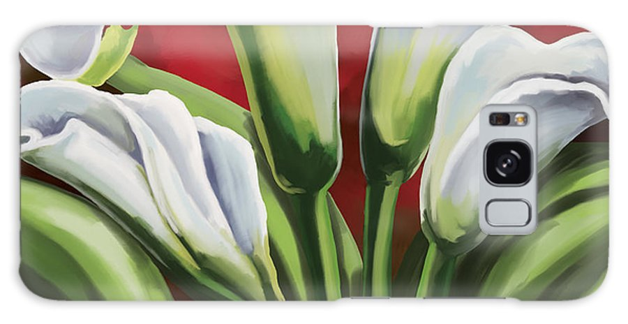 Calla Lilies Galaxy S8 Case featuring the painting Calla Lilies by Tim Gilliland