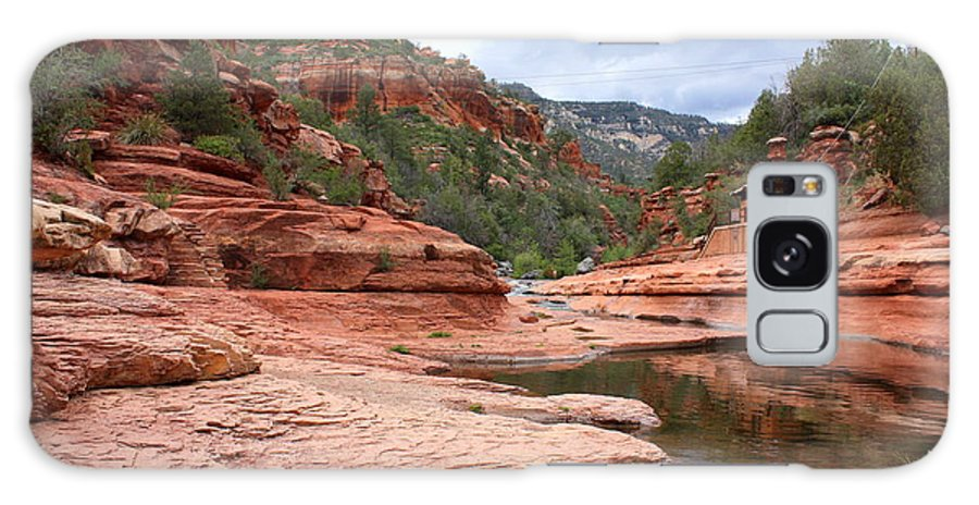 Slide Rock Galaxy S8 Case featuring the photograph Calm Day At Slide Rock by Carol Groenen