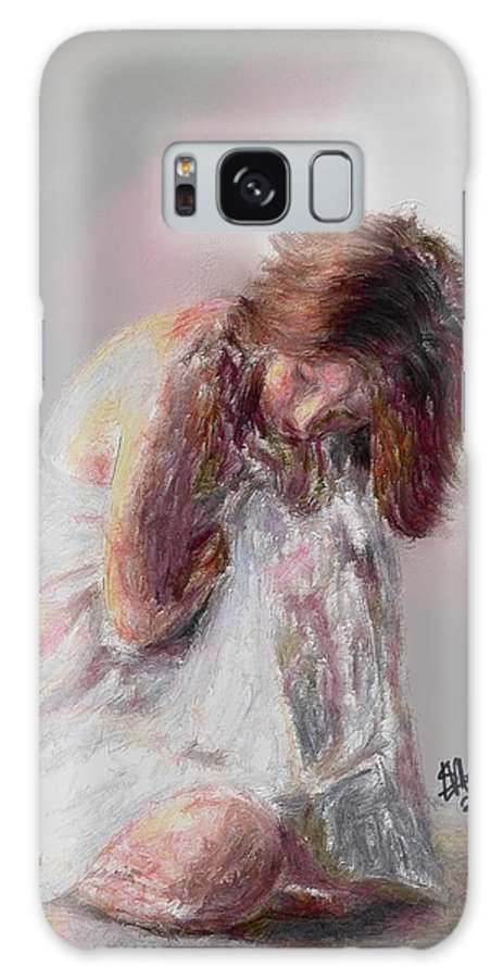 Woman Galaxy S8 Case featuring the painting Calm by Stacy Moore