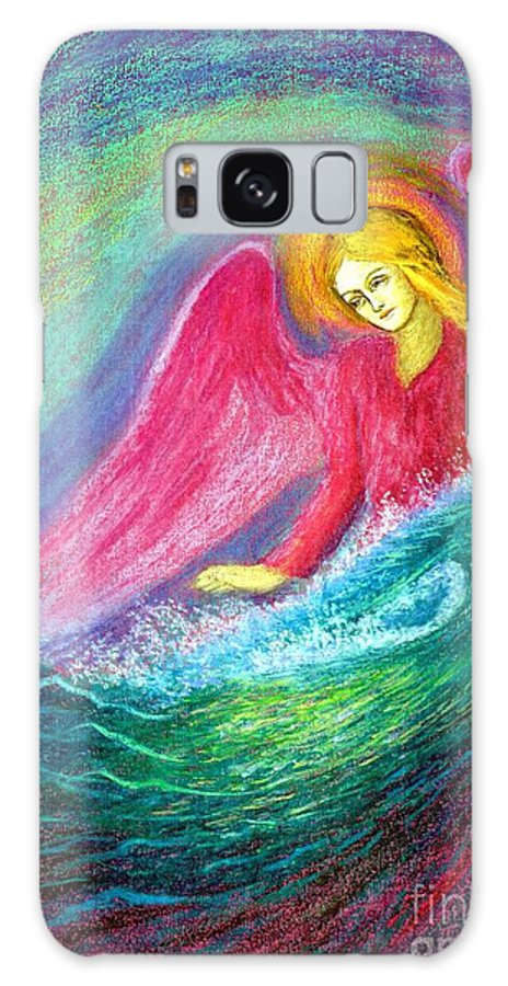 Love Galaxy Case featuring the painting Calming Angel by Jane Small