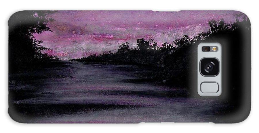 Dark River Galaxy S8 Case featuring the pastel Calming by Garrett Wright