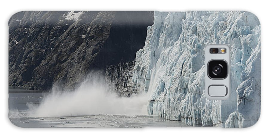 Landscape Galaxy S8 Case featuring the photograph Calving Margerie Glacier by Lynn Cromer