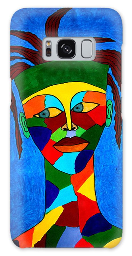 Colors Galaxy S8 Case featuring the drawing Calypso Man by Chrissy Pena