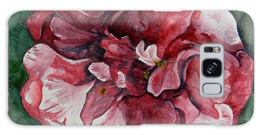 Camelia Galaxy S8 Case featuring the painting Camelia by Judy Bruning