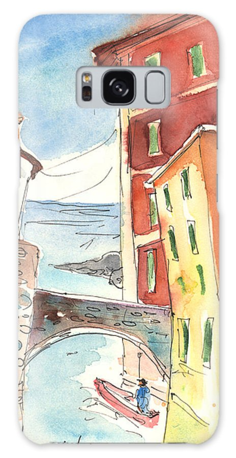 Italy Galaxy S8 Case featuring the painting Camogli In Italy 04 by Miki De Goodaboom