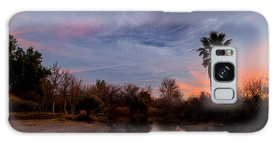Camp Davis Galaxy S8 Case featuring the photograph Camp Davis River Sunset by Angus Hooper Iii