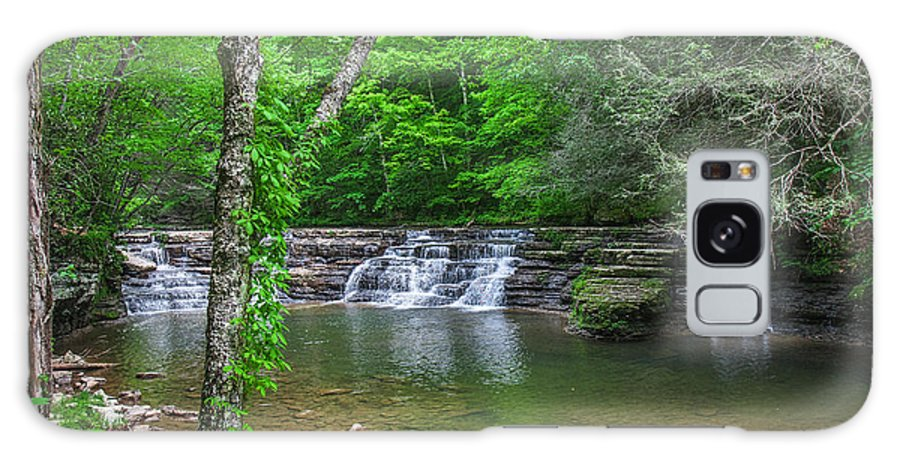 Camp Creek Galaxy S8 Case featuring the photograph Campbell Falls by Mary Almond