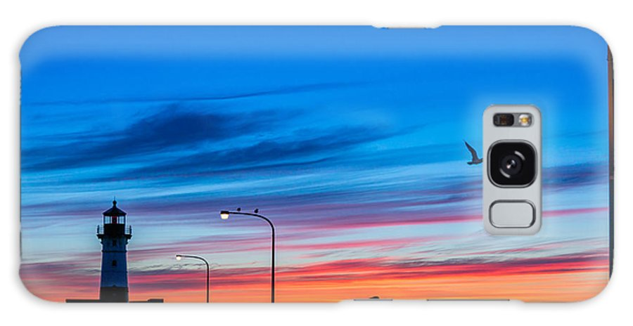 Canal Park Galaxy S8 Case featuring the photograph Canal Park Sunrise by Mark Goodman