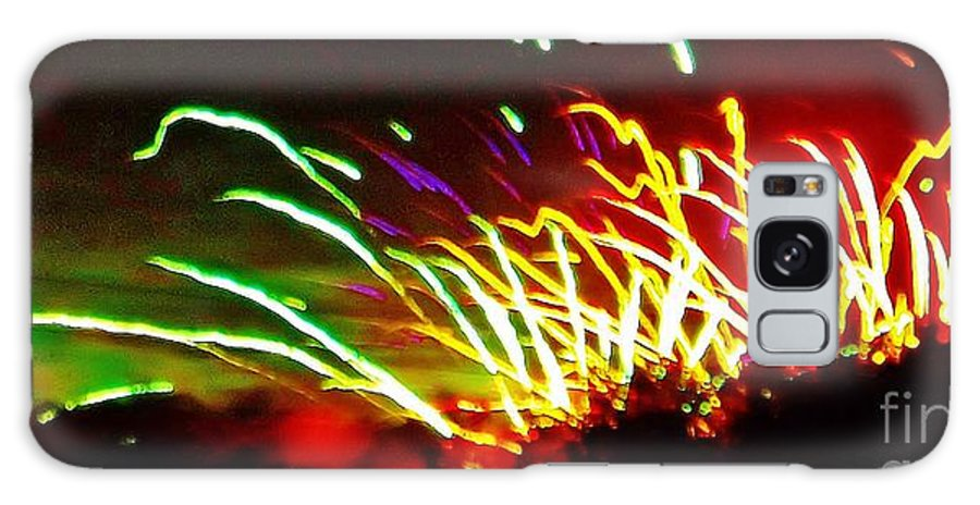 Abstract Galaxy S8 Case featuring the photograph Candy Stripe Fireworks by Brigitte Emme