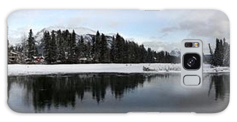 Panorama Galaxy S8 Case featuring the photograph Winter Mountain Calm - Canmore, Alberta by Ian Mcadie