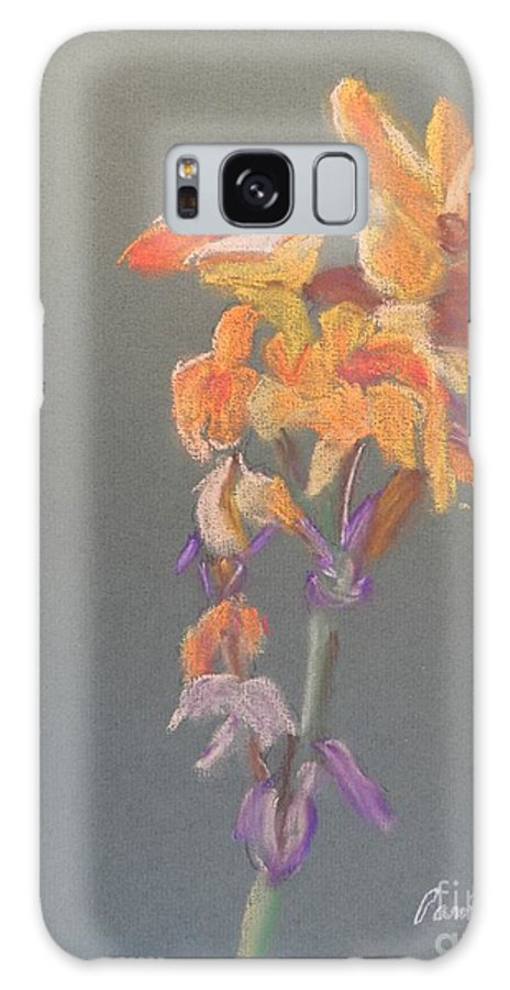 Canna Galaxy S8 Case featuring the painting Canna by Pamela Meredith